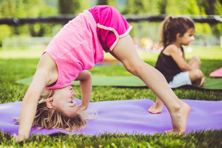 La Tierra Community School (LTCS) students doing yoga